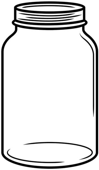 This is a photo of Witty Mason Jar Cut Out Template