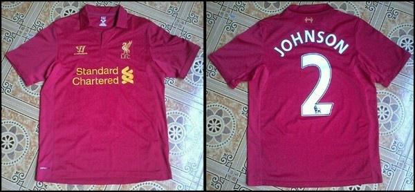 Sale Jersey Home Liverpool 12/13 KW Thailand Grade AAA Nameset Glen Johnson Size M 150k Cp. 089602608644
