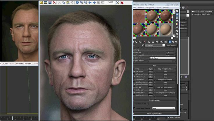 """Making of """"Portrait of Daniel Craig"""" by Luc Bégin V-Ray for 3dsMax Tutorial"""
