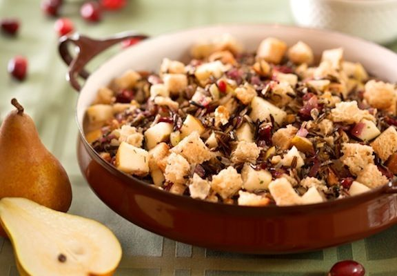 Cranberry Wild Rice Stuffing from Vegan Thanksgiving Dinner (Vegetarians Welcome) Here's your premier source for vegan Thanksgiving recipes and menus to create a memorable dinner—suitable for any vegetarian guests as well!