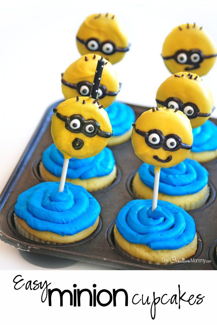 Minions are super popular and now even have their own movie! Celebrate your family's love of the adorable creatures with these easy Minion cupcakes.