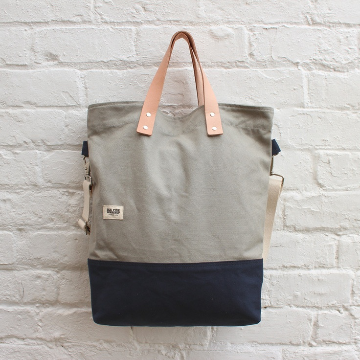 BLK Pine Workshop Tall Tote Bag Light Grey / Navy £109.99