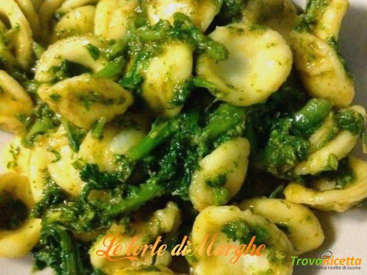 Pasta orecchiette con cime di rapa  #ricette #food #recipes