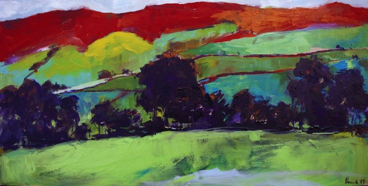 Llanfyrnach, Wales, Acrylic painting by Paul West | Artfinder