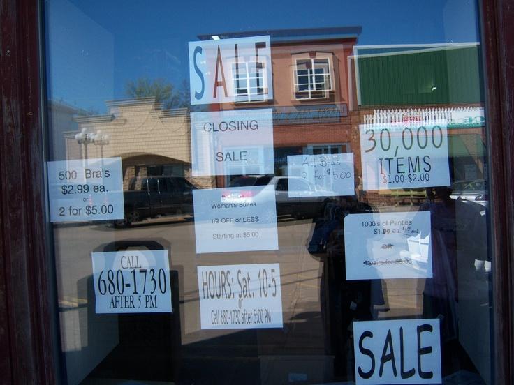 Chamberlain South Dakota resale shop (2009) 500 bras and 1000's of ...