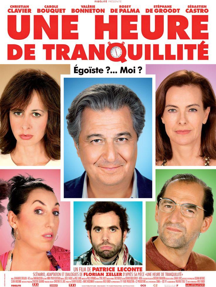 Une heure de tranquillité est un film de Patrice Leconte avec Christian Clavier, Carole Bouquet. Synopsis : Michel, passionné de jazz, vient de dénicher un album rare qu'il rêve d'écouter tranquillement dans son salon. Mais le monde entier semble s'être ligu