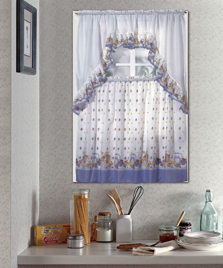 Pots And Fruits Kitchen Curtain Set
