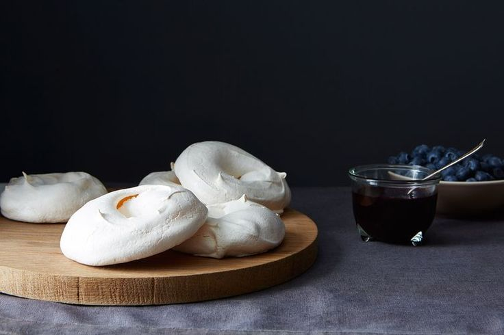 Pavlova with Boozy Blueberry Sauce recipe on Food52