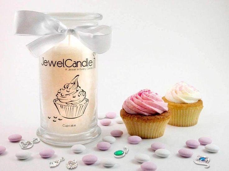 Bougie parfumée Sweet Cupcake et pendentif en argent | JewelCandle.fr