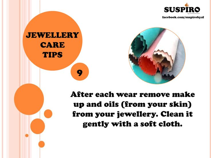 #Suspiro #Jewellery #Care #Tips After each wear remove #makeup and #oils (from your skin) from your jewellery. Clean it gently with a soft #cloth.