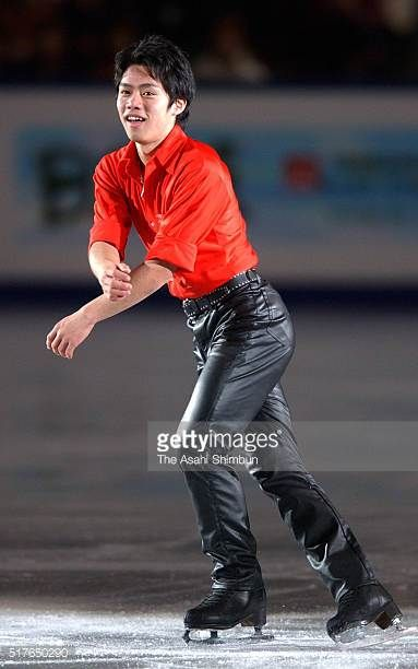 Daisuke Takahashi of Japan performs in the gala exhibition during day four of the ISU World Figure Skating Championships at M Wave on March 19 2002...