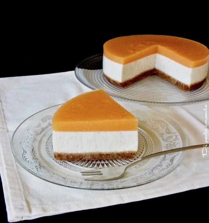 Di pasta impasta: Torta fredda di yogurt e melone alla vaniglia (con agar agar)