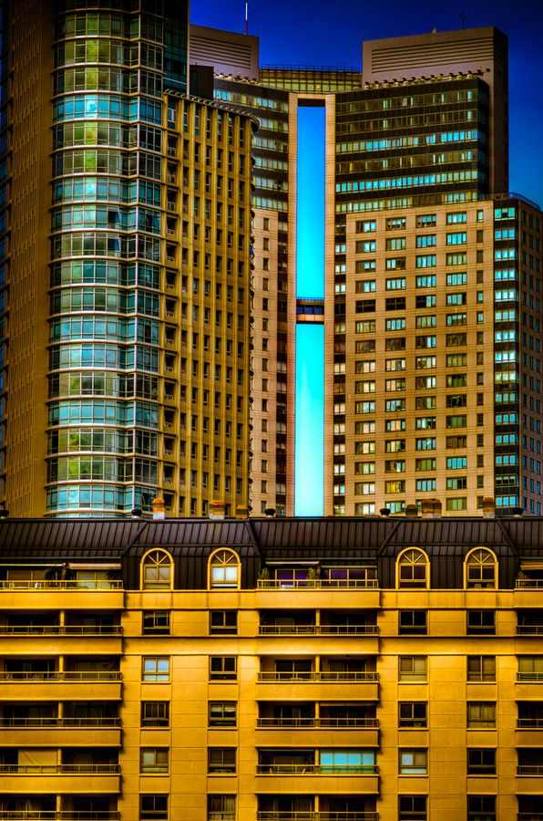 Buildings in Puerto Madero neighborhood, Buenos Aires, Argentina. Tonemapped with Photomatix
