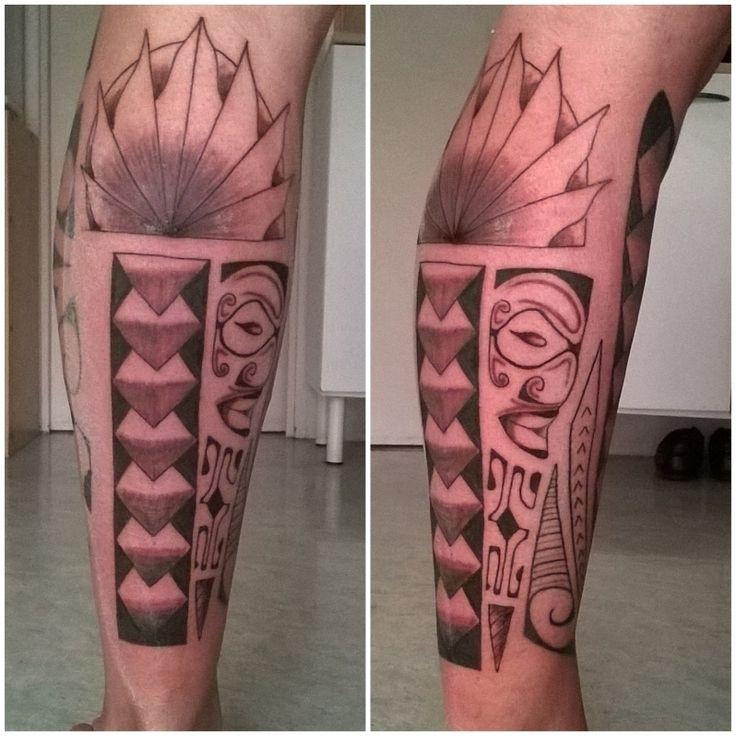 Les 25 meilleures id es de la cat gorie tatouage mollet homme en exclusivit sur pinterest - Tatouage mollet polynesien ...