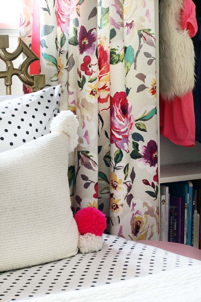 use white ikea panels as the curtain liner to add weight to fabric - via the hunted interior