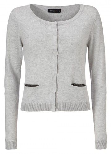Modström MEDEA cardigan Light grey mel.