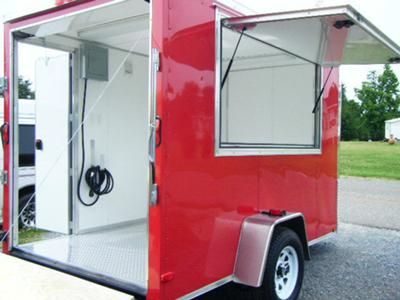 Free ramp door. 7/11/2012 (Shelby, North Carolina) - We are still building special concession trailers for you--we have this nice 10 ft. long x 6 ft. wide x 6 1/2 high