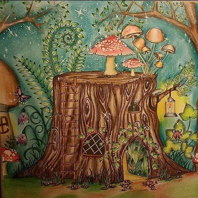 Drawing Secretgarden Jardimsecreto Johannabasford Jardimsecretolove Staedtler Mycreativeescape Coloringbook Polychromos Enchantedforest Lostocean