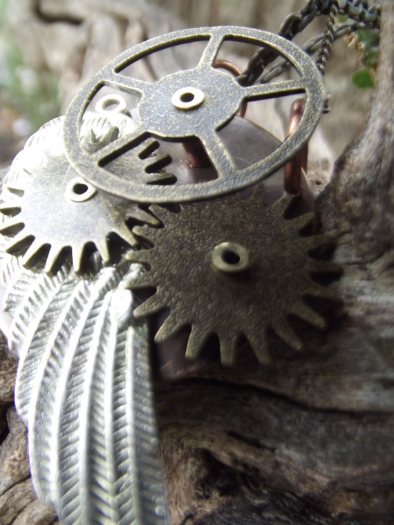 Mechanical Riveted Brass and Copper Icarus Medallion by LatemSkrow, $50.00  My friend Brian's beautiful metal-working!