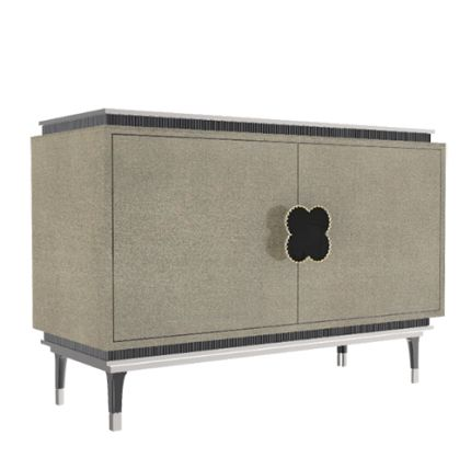 The HAPPY CLOVER sideboard is a classic MARI IANIQ design. Inspired by luxury jewellery, this piece is adorned with the HAPPY CLOVER range's signature four-leaf clover motif with superb nacre inlays and hand-made metal framing in the handle. #clover #happyclover #handmade #sideboard #oldgold #interiors #decor #Alhambra #highend #luxury #design #onyx #MARIIANIQ #vancleef #luxuryliving #m3tallic #patina #bespoke