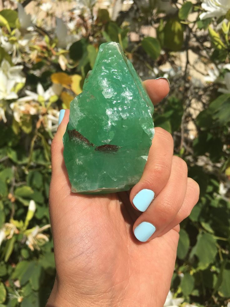 Large Green Calcite Crystal Rare Emerald Color