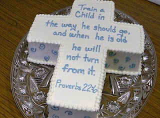Cute Infant Dedication Cake