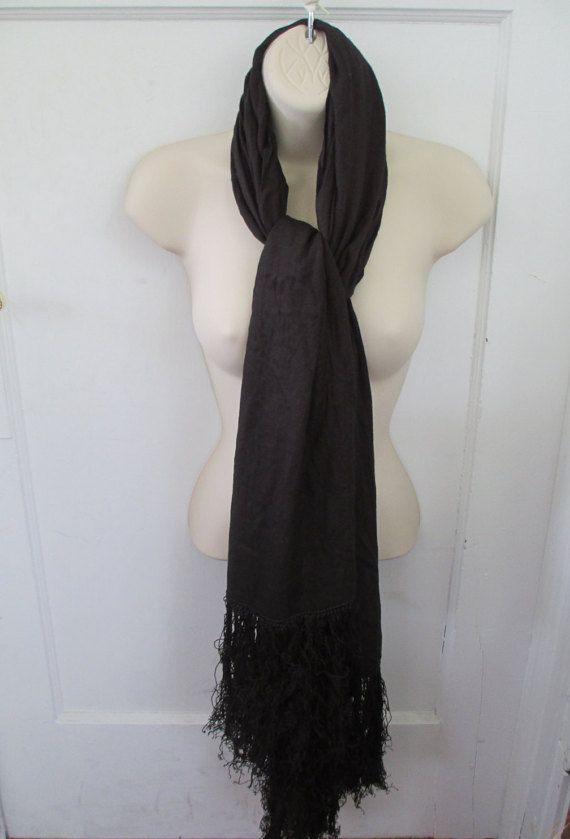 Black Gypsy Witch Shawl Gypsy Wrap Stevie by AmethystWaysFairies
