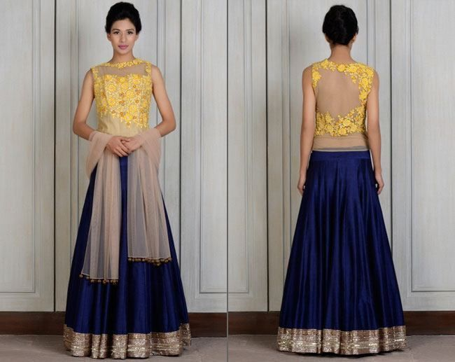Extremely Beautiful Manish Malhotra Lehengas for the Bridesmaids- Yellow Resham | #ManishMalhotra #Lehenga #BridalDesigns