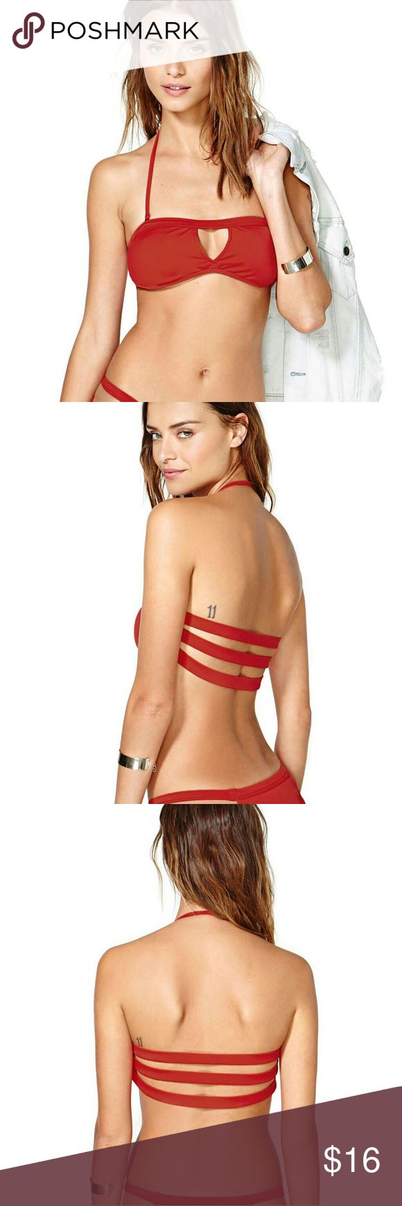 New RED BANDIT Sexy Cut-out Caged Back Bikini Top New ! RED BANDIT Sexy Cut-out Banded Caged Back Bikini Top  Bikini bottom sold separately, see other listing. Also available in black.  Material: Polyamide+Elasthane Swim Bikinis