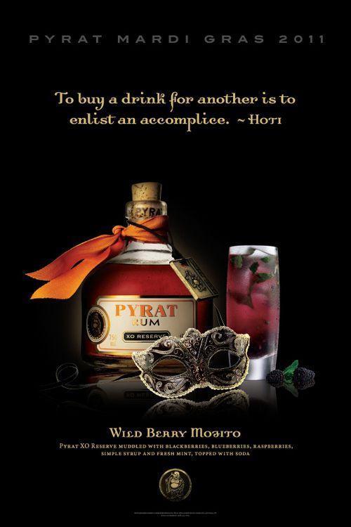 Pyrat Rum - Mardi Gras Promotional Print Ads