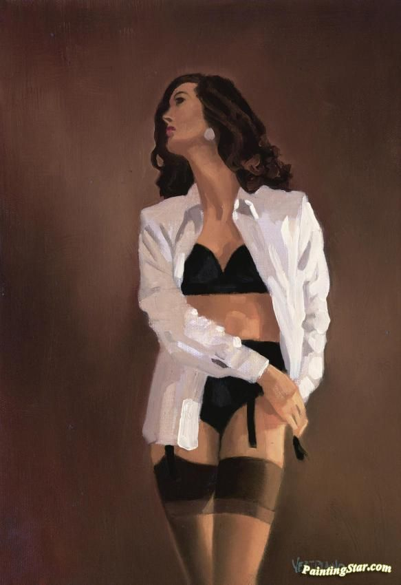 Study For How Do You Stop Artwork by Jack Vettriano Hand-painted and Art Prints on canvas for sale,you can custom the size and frame