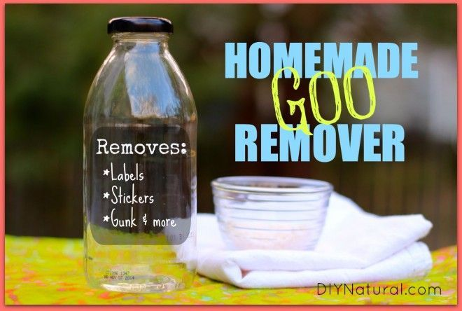 How To Make A Homemade Natural Adhesive and Goo Remover