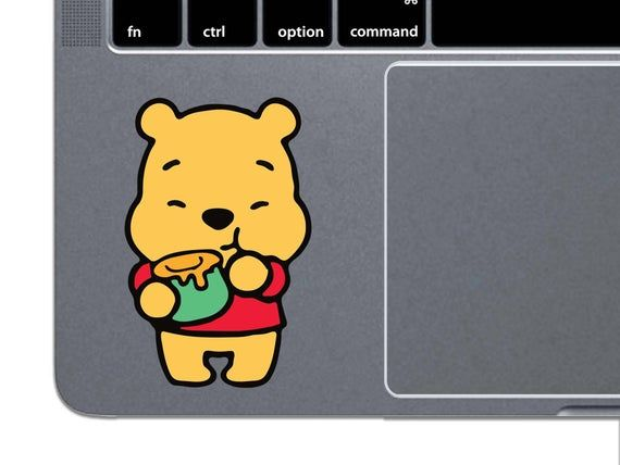 MacBook Decal Disney Pooh MacBook Sticker Winnie The Pooh MacBook Air MacBook Pro Retina Trackpad La