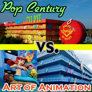 Two value resorts compared:  Pop Century vs. Art of Animation - prices, theming, dining, pools