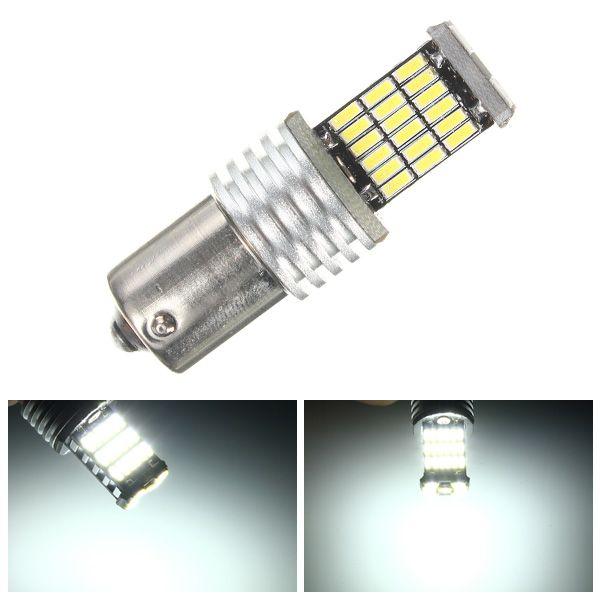 1156 ba15s P21W 7507 4014-SMD LED blanco LED bombillas de luz de intermitencia dc12v
