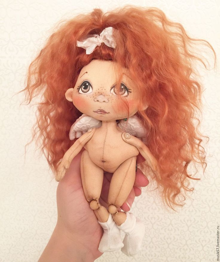 Купить Ангелочек (авторская работа) - белый, кукла ручной работы, кукла, кукла в подарок