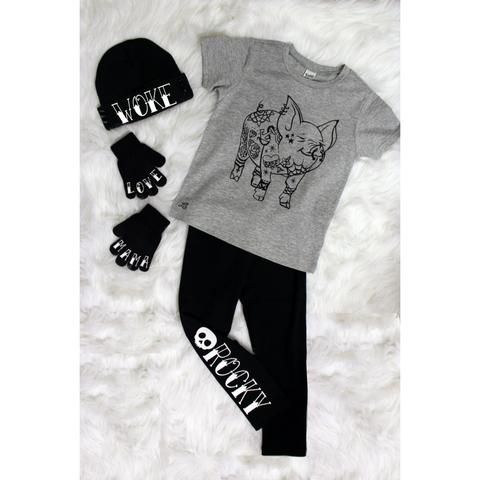 Tatted up legs, kids leggings  , personalized clothing, trendy streetwear for edgy urban kids