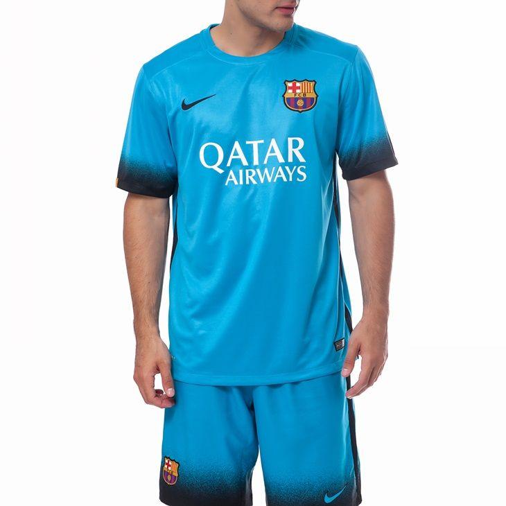 2015/16 FC Barcelona Nike Away Jersey (Blue)
