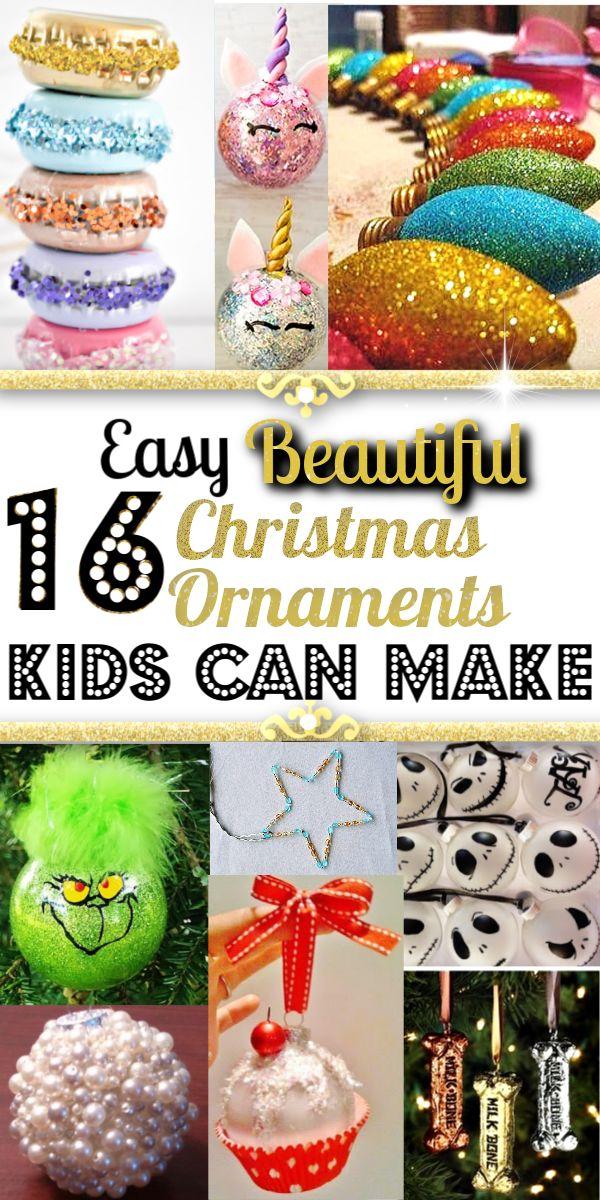 Einfache, aber wunderschöne DIY-Ornamente, die Kinder zum Basteln oder als Geschenk machen können. #Teachersg …   – Christmas Decorations