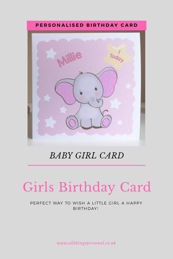 Girls Birthday Card For Daughter Granddaughter Sister Niece Etsy Personalized Birthday Cards Birthday Cards Girl Birthday Cards