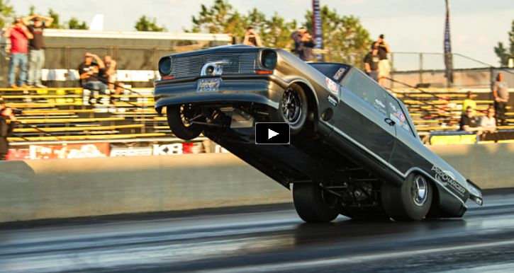 Street Outlaws Chevy Goliath Does A Huge Wheelie
