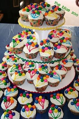 possible balloon cupcakes. bubble gum for ballons