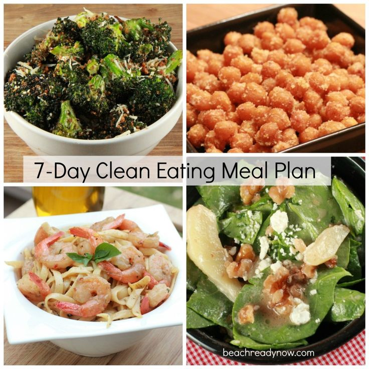 7-Day Clean Eating Meal Plan- these recipes look super good.  Gotta get ready for our honeymoon in Punta Cana, D.R!!