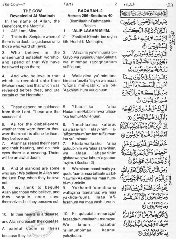 Quran e karim english translation pdf free download.