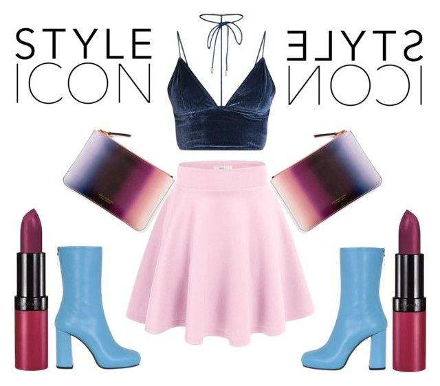 """style icon"" by kleefashion on Polyvore featuring Ana Romero, MSGM and Rimmel"