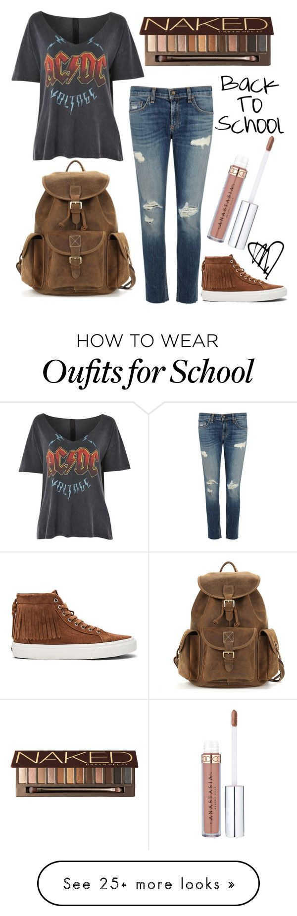 """""""Back to School 2017"""" by lindseylyonss on Polyvore featuring Topshop, rag & bone/JEAN, Vans and Urban Decay"""
