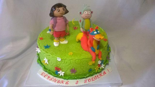 Тортик для доченьки делала