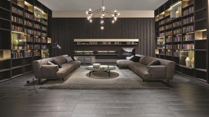 Poliform_Fabric covered Tribeca sofa.
