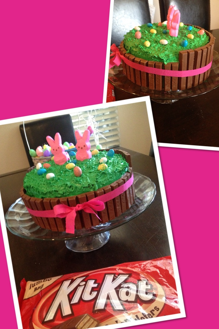 Kit Kat Easter Cake