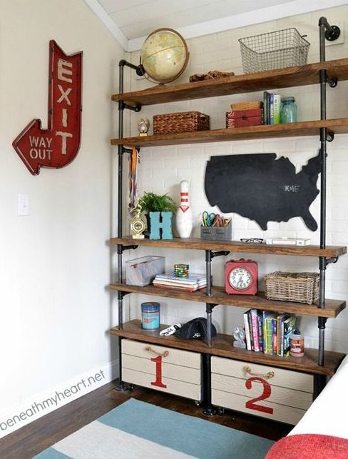 Shelf organization.